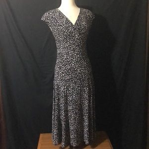 Jones New York Pleated Bustline Stretch Dress